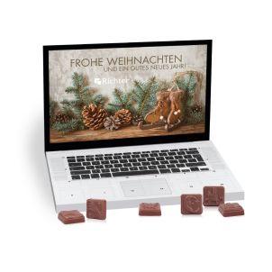 Tisch-Adventskalender Classic Exklusiv Laptop