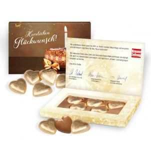 Lindt Schokoherzen in Präsentbox Business, Klimaneutral, FSC®